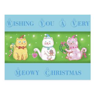 Postal Navidad de Meowy