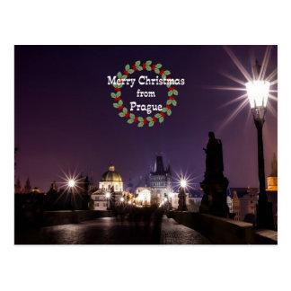 Postal Navidad de Praga, foto del paisaje urbano