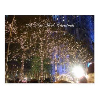 Postal Navidad de una Nueva York