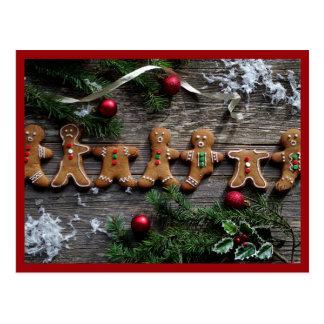Postal Navidad del pan de jengibre