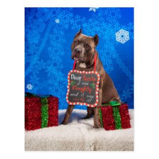 Postal Navidad del pitbull
