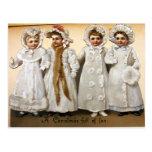 Postal Navidad del Victorian del vintage