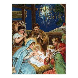 """Postal Navidad del vintage de """"Yuletide alegre"""""""
