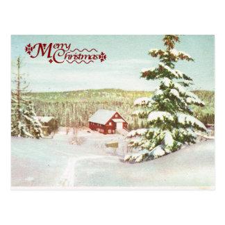 Postal Navidad del vintage en Noruega, 1950