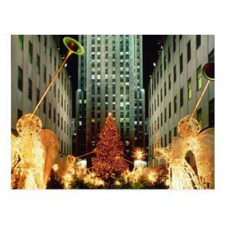 Postal Navidad en el centro de Rockefeller