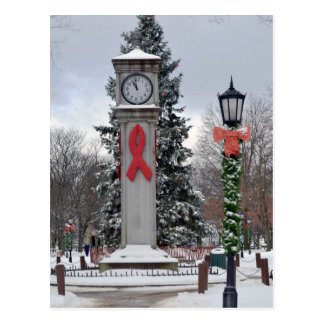 Postal Navidad en el reloj del lux