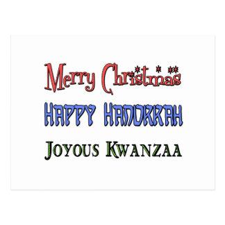Postal Navidad - Jánuca - Kwanzaa