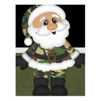 Postal Navidad militar de encargo Santa del soldado
