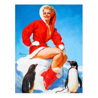 Postal ¡Navidad modelo con los pingüinos!