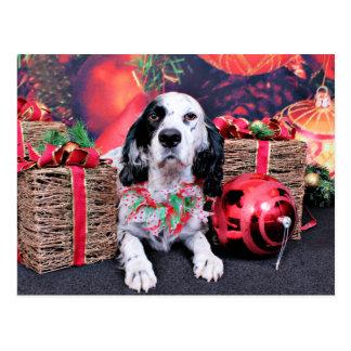 Postal Navidad - organismo de Louellen - Veruka