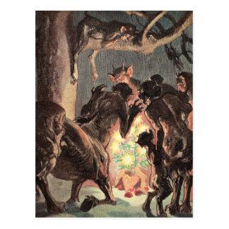 Postal Navidad pagano