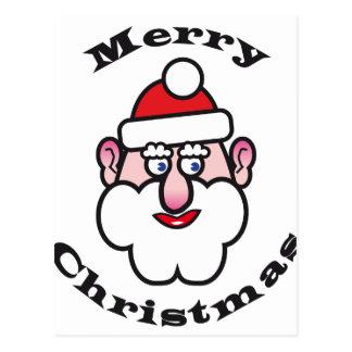 Postal Navidad Papá Noel, Felices Navidad