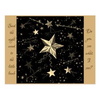 Postal Navidad que baila la estrella