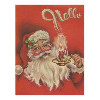 Postal Navidad Santa del vintage