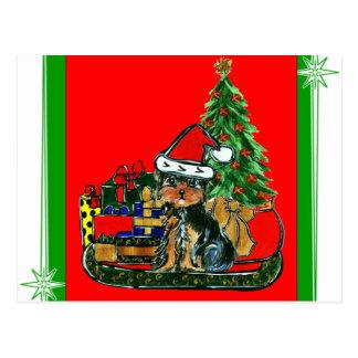 Postal Navidad Yorkie Poo