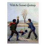 Postal Navidades victorianos de época