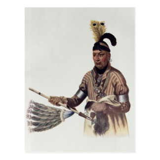 "Postal Naw-Kaw o ""madera"", un jefe del Winnebago"