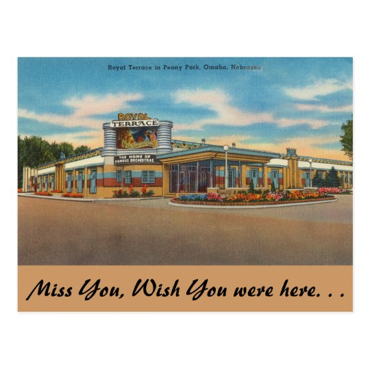 Postal Nebraska, terraza real, parque del Peony, Omaha