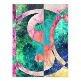 Postal Nebulosa abstracta de Yin Yang