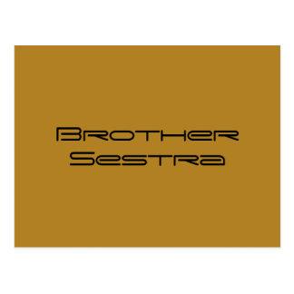 Postal Negro huérfano de Brother SESTRA, copia del