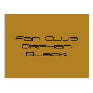 Postal negro huérfano del club de fans en fuente