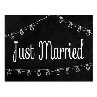 Postal Negro rústico apenas casado casando la luz de la