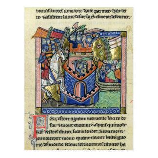 Postal Neumático que es bloqueado por la flota veneciana