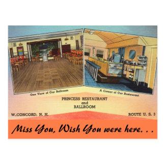 Postal New Hampshire, princesa Restaurant, concordia