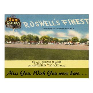 Postal New México, corte de Zuni, Roswell