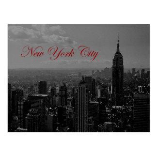 Postal New York City blanco negro