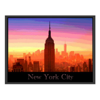 Postal New York City colorido