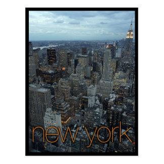 Postal New York City en la oscuridad