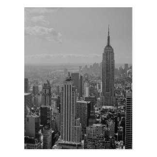 Postal New York City negro y blanco