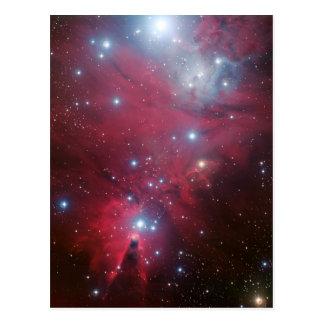 Postal NGC 2264 y el racimo del árbol de navidad