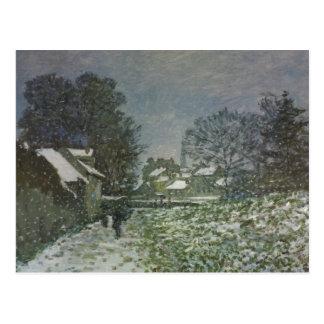 Postal Nieve en Argenteuil de Claude Monet, arte del