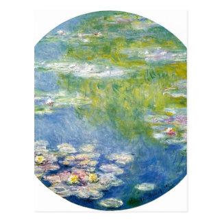 Postal ¿Ninfa de los Agua-Lirios de Claude Monet? como