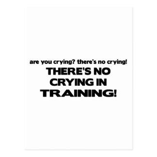 Postal Ningún griterío en el entrenamiento