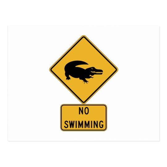 Postal Ninguna natación - cocodrilos (2), muestra,