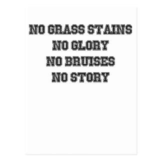 Postal Ningunas manchas de la hierba, ninguna gloria,