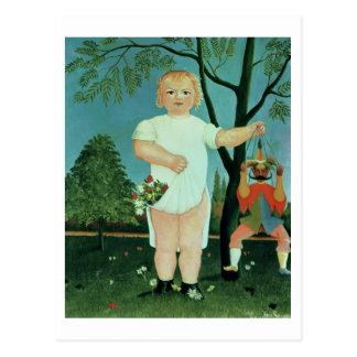 Postal Niño con una marioneta, c.1903 (aceite en lona)