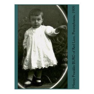 Postal Niño de la alta moda de 1909