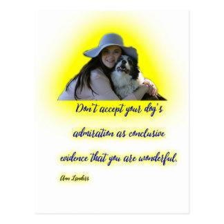 Postal No acepte la admiración de su perro