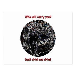 Postal No beba y no conduzca