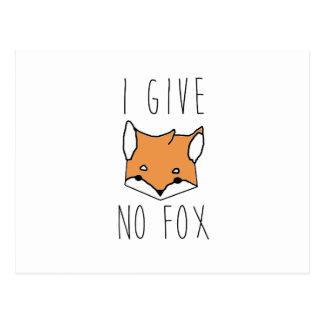 Postal No doy ningún Fox