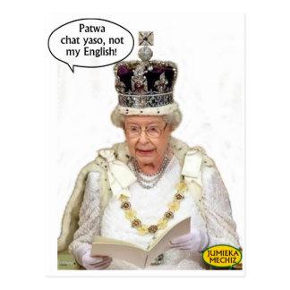 Postal No el inglés de la reina