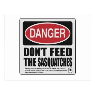 Postal No hace la alimentación Sasquatches