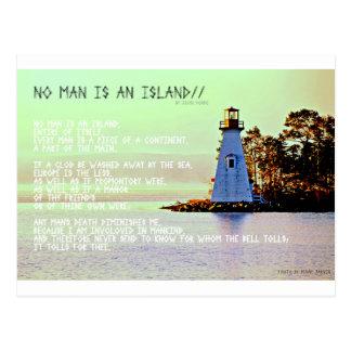 Postal No hay hombre una isla, por Juan Dunne