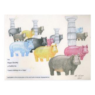 Postal No hay nada como un hipopótamo
