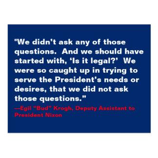 Postal No hicimos a ésos las preguntas Nixon que el