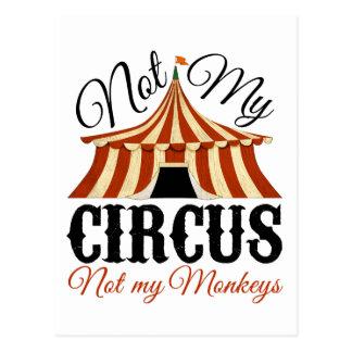 Postal No mi circo - no mis monos